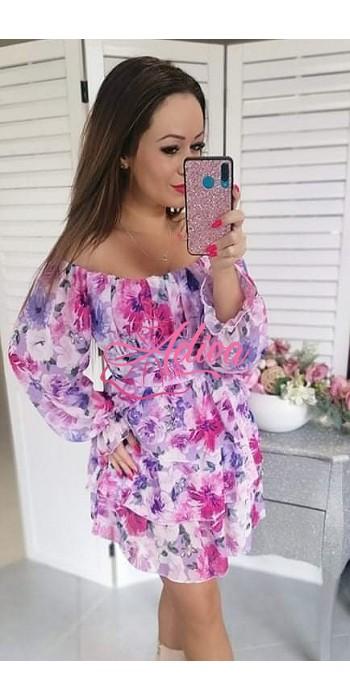Kvietkované dámske šaty  LILAS ROMANCE