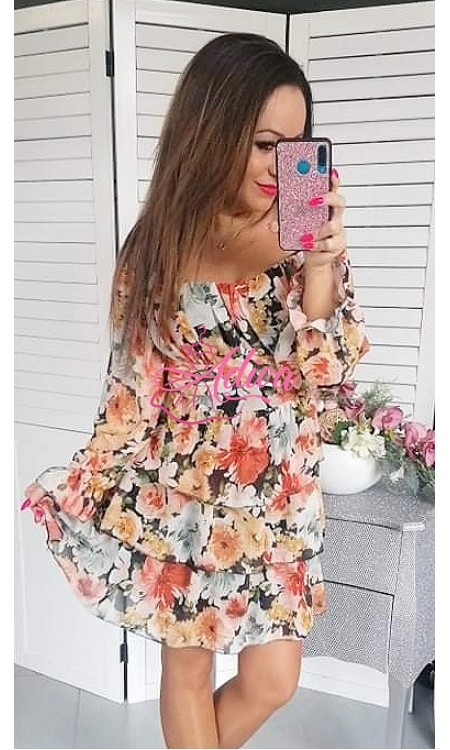 Kvietkované dámske šaty  AUTUMN ROMANCE