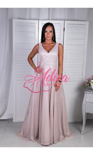 Ružovkasté trblietavé spoločenské šaty Ismea