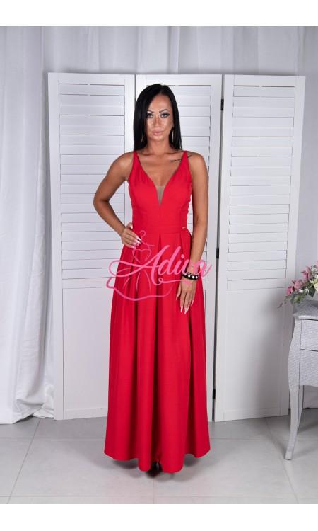Červené dlhé spoločenské šaty