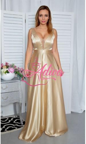 Dlhé spoločenské šaty zlaté SUZANNE