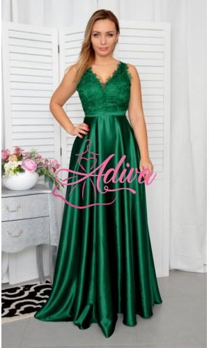 Zelené spoločenské šaty LUNA