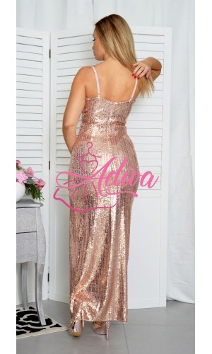 Zlaté flitrované šaty ANGEL