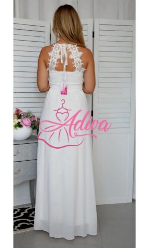 Spoločenské biele šaty JULIETTE