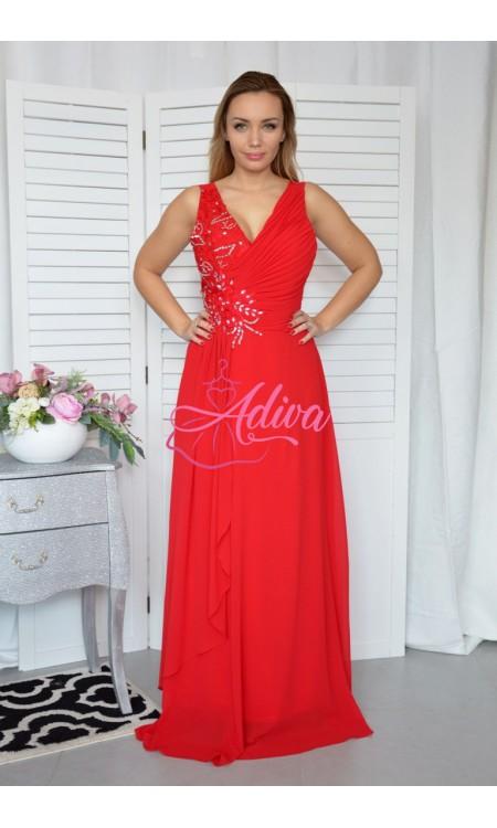 Červené spoločenské šaty FODORA