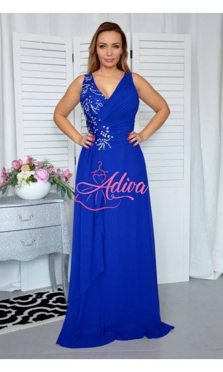 Modré spoločenské šaty FODORA