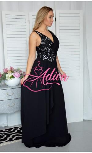 Čierne spoločenské šaty FODORA