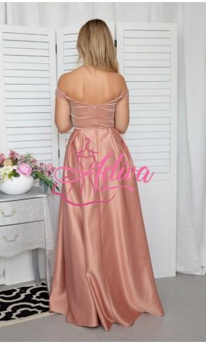 Plišové staroružové spoločenské šaty Royal