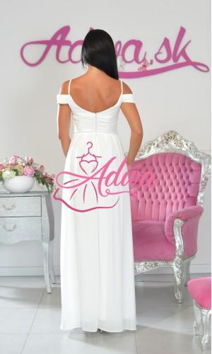 Dlhé biele spoločenské šaty Jasmine