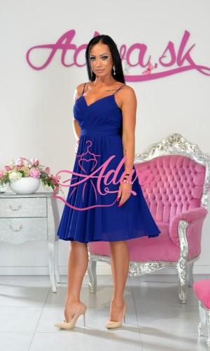 Modré kráte spoločenské šaty TINA short