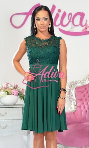 Zelené krátke spoločenské šaty SAVINA