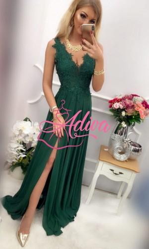 Smaragodovozelené dlhé spoločenské šaty LOREN