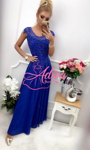 Modré spoločenské šaty pre moletky  AIDA