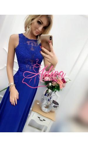 Modré dlhé spoločenské šaty BENTLEY