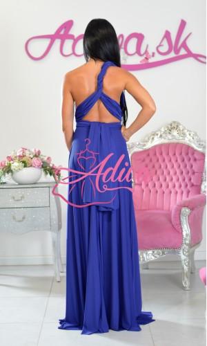 Kráľovský modré dlhé multiway spoločenské šaty na rôzne viazanie