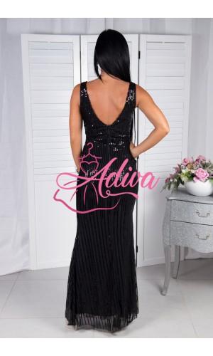 Priliehavé čierne spoločenské šaty FIOLA