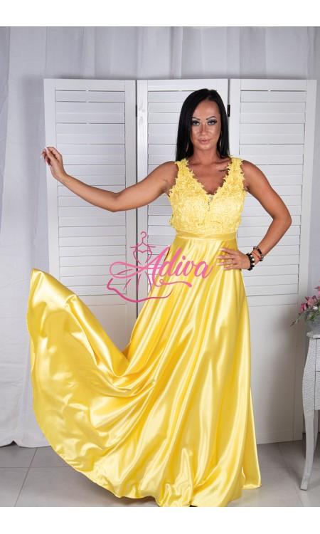 Žlté spoločenské šaty LUNA