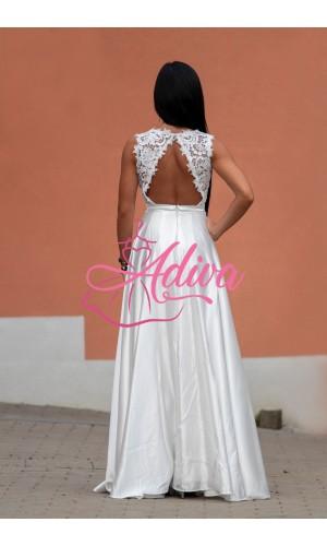 Biele spoločenské šaty LUNA