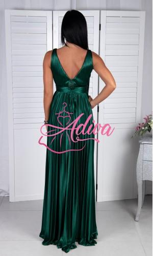 Lesklé zelené spoločenské šaty SELENE
