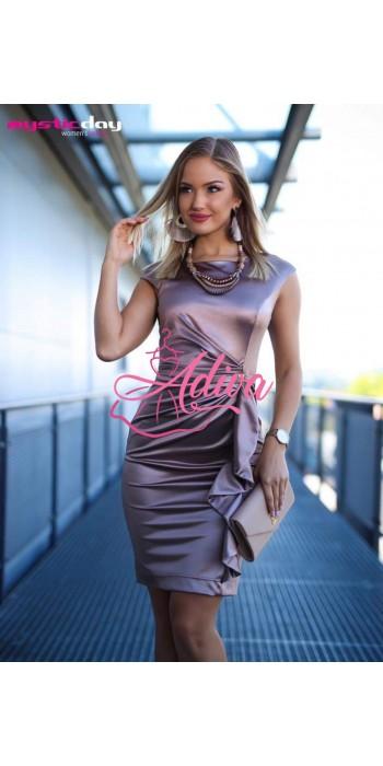 Elegantné saténové krátke šaty