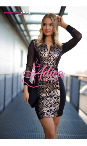 Čierne elegantné šaty s flitrami