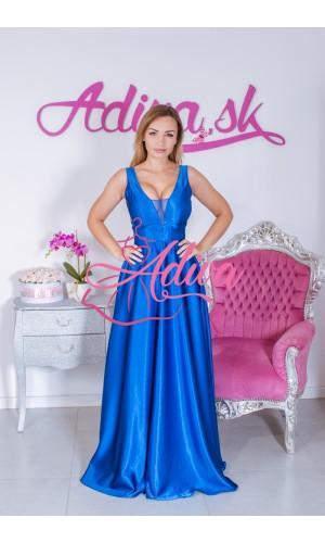 Dlhé spoločenské šaty modré SUZANNE