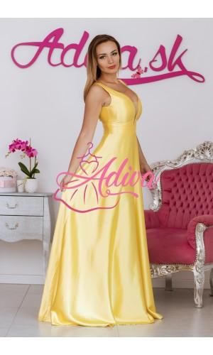 Dlhé spoločenské šaty žlté SUZANNE