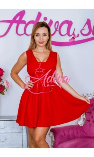 Krátke červené spoločenské šaty TAMARA