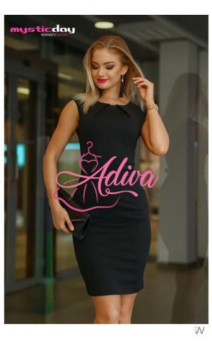 Elegantné puzdrové čierne šaty