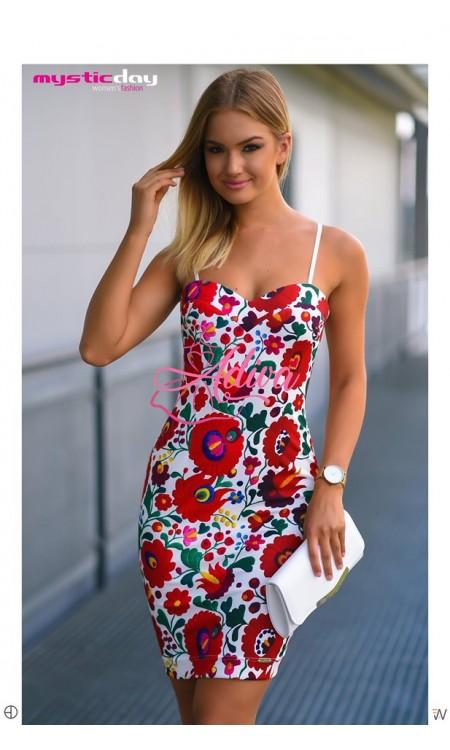 Elegantné folklórne šaty na ramienkach