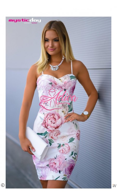 Elegantné kvietkované šaty na ramienkach