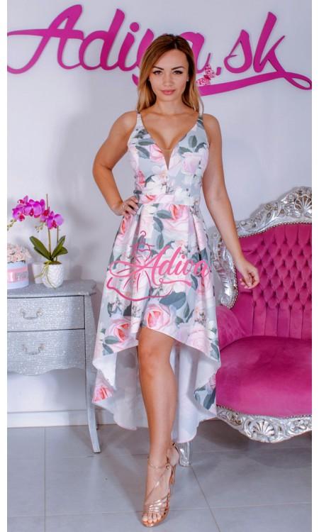 Asymetrické kvietkované šaty Corelia