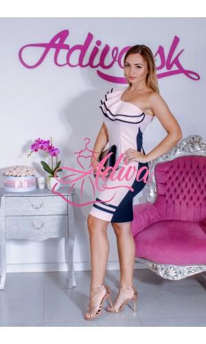 Puzdrové elegantné šaty s volánom
