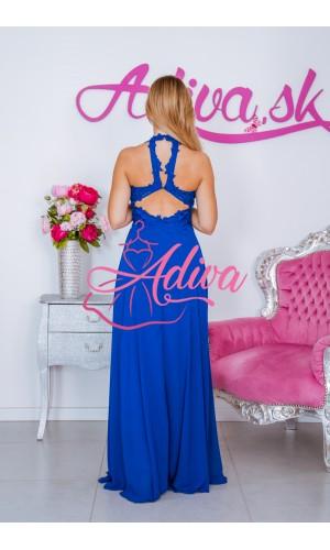Modré dlhé šaty MAEVA