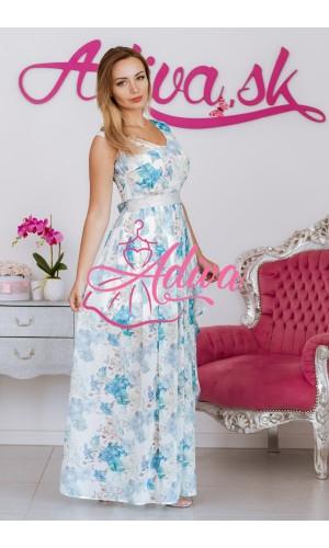 Kvetinové dlhé spoločenské šaty DEANA