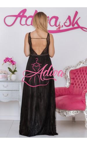 Čierne čipkované spoločenské šaty ANISHA