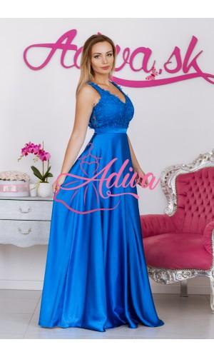 Modré spoločenské šaty LUNA