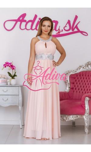 Ružovkasté spoločenské šaty MAGGIE