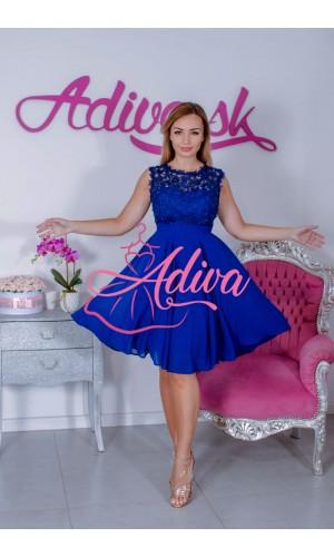 Modré krátke spoločenské šaty SAVINA