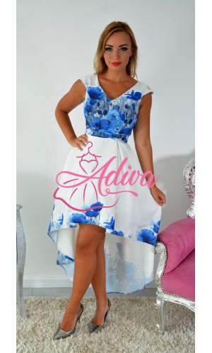 Asymetrické kvietkované šaty