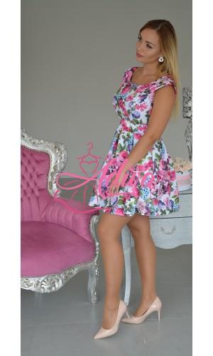 Kvetinové áčkové šaty ELSIE
