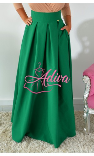 Zelená dlhá sukňa