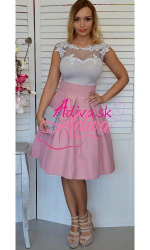 Krátka staroružová áčková sukňa