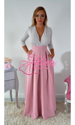 Staroružová dlhá sukňa