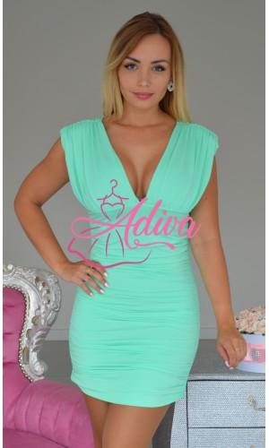 Elastické mentolové šaty Tamira