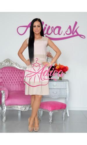 Elegantné pásikavé šaty