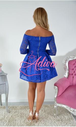Krajkované mini šaty kráľovsky modré