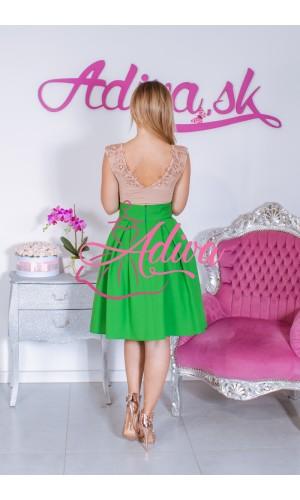 Zelená krátka áčková sukňa