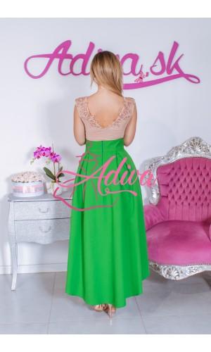 Zelená asymetrická sukňa