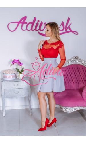 Sivá áčková mini sukňa
